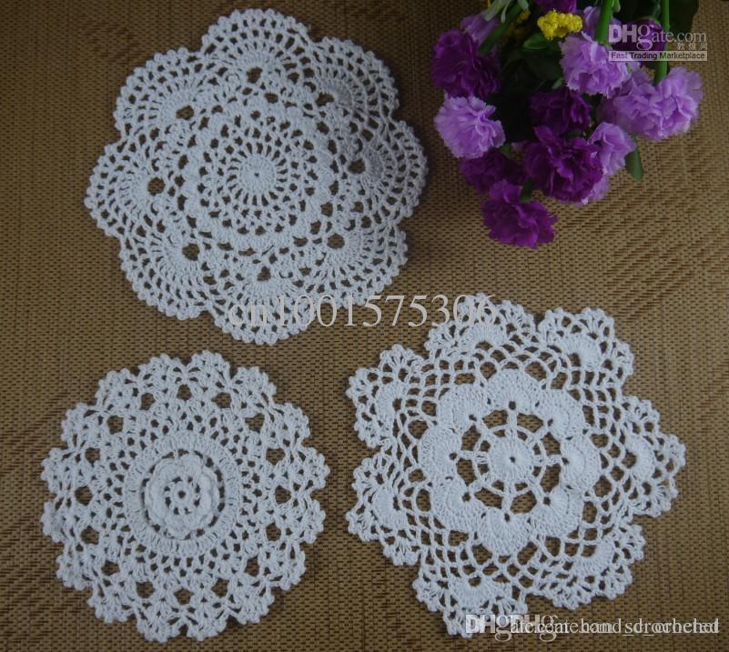 Handmade Crochet Pattern 3 Designs Doily Cup Pad Mats Table Cloth