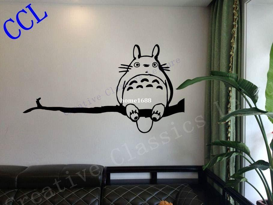 Ghibli Totoro My Neighbor Totoro Inspired Wall Decal, Tortoro Decal Sticker,  Anime Wall Art P2061 Wall Art Vinyl Stickers Wall Art Wall Decals From  Home1688 ...