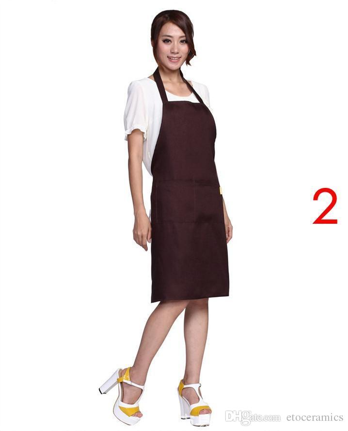 프론트 포켓 턱받이가있는 일반 앞치마 앞치마 주방 요리 공예 요리사 베이킹 아트 성인 십대 대학 의류