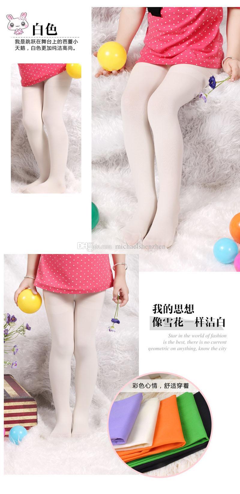 الأطفال طماق الجوارب سروال نحيل ملابس الأطفال أزياء حلوى لون اللباس الداخلي بنطلون طويل أطفال السراويل البنات الجوارب 14 لون B001
