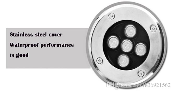 Lampade sotterranee a LED 10W Alta qualità Caldo / Freddo Bianco Blu Verde Rosso LED sotterraneo Luce IP67 AC85-265V Waterpoof Illuminazione esterni