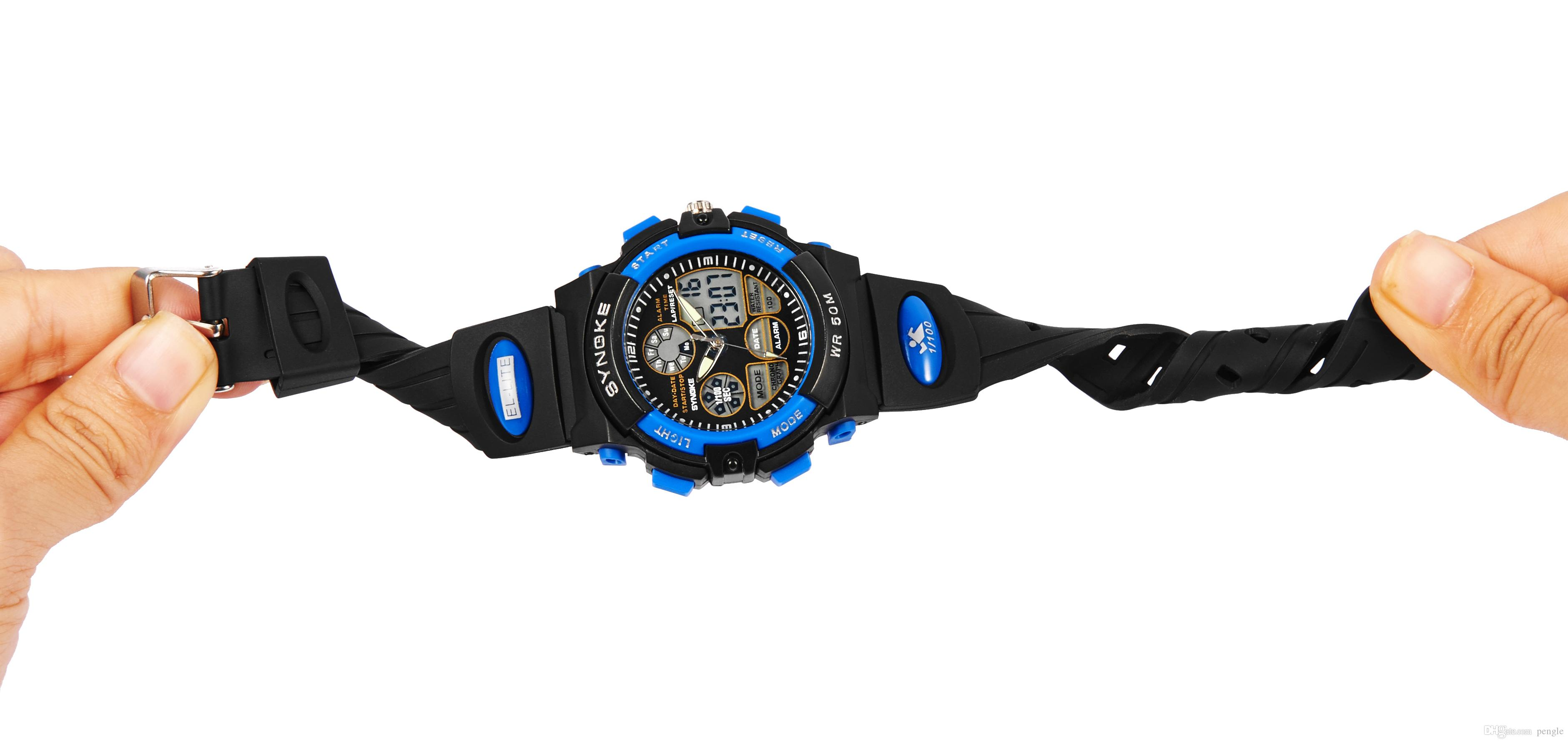 New Fashion Sports Men Digital Watch LED Luminous Watch Dual Display Deep Waterproof Wrist Watch For Children