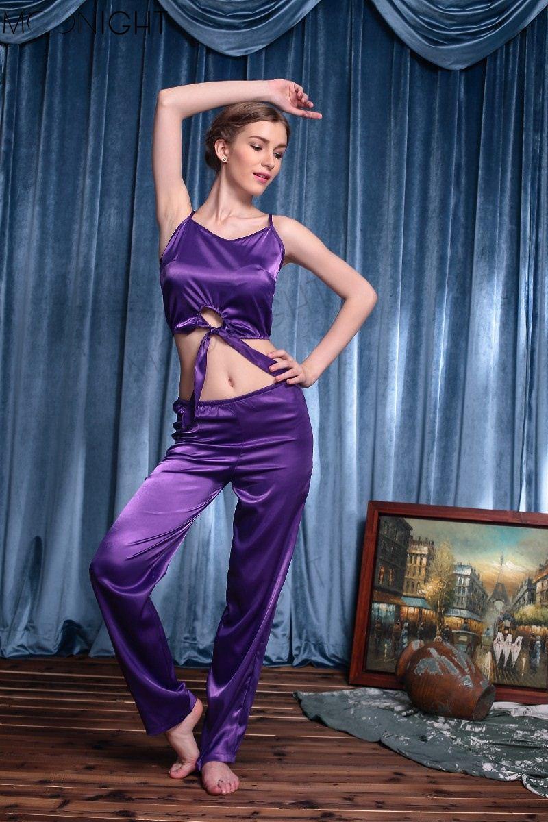 ce6f241f9121 151204 Purple Emulation Silk Pajamas New Hot Sexy Underwear Women ...