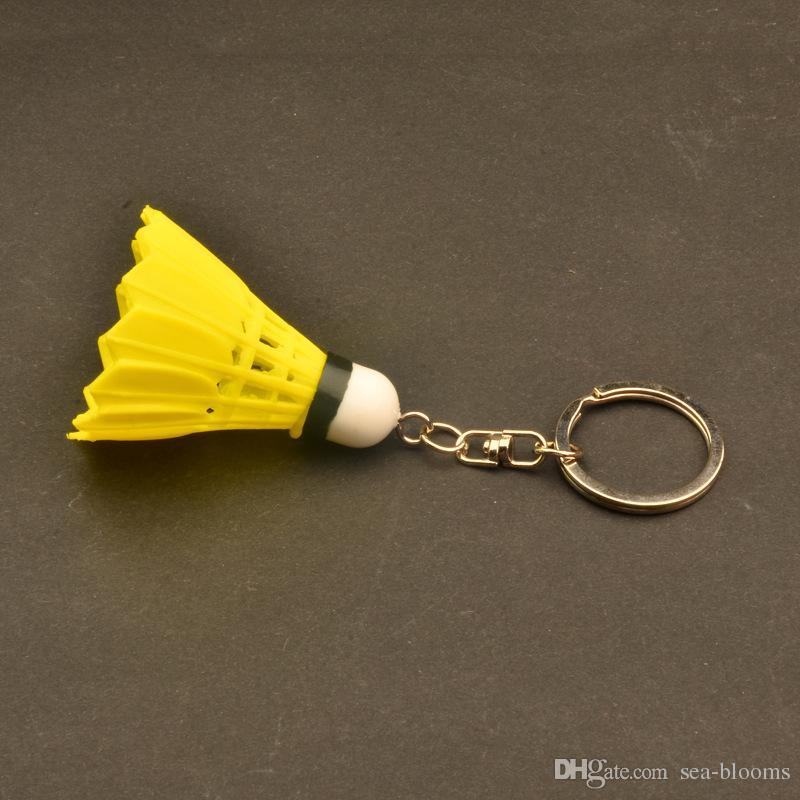 Badminton Çanta Anahtarlık Anahtarlık Kolye Süsler Plastik Mini Hediyeler Doğrudan Badminton Kolye Takı Noel Hediyesi D335S
