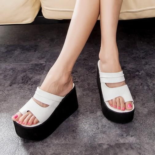 Women Sandals 2015 Flat Platform Shoes Women Wedge Sandals Thick ...