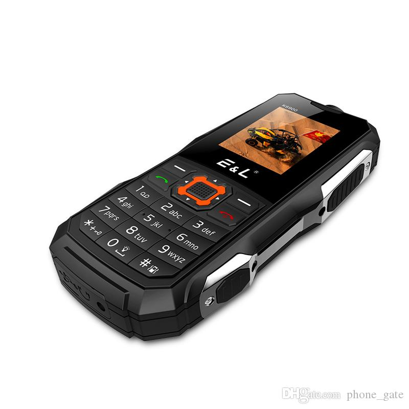 E&L K6900 Keyboard Waterproof Shockproof Dual SIM IP68 GSM Keyboard Mini Key Elder Telephone Rugged Phone FM Radio Mobile Phone