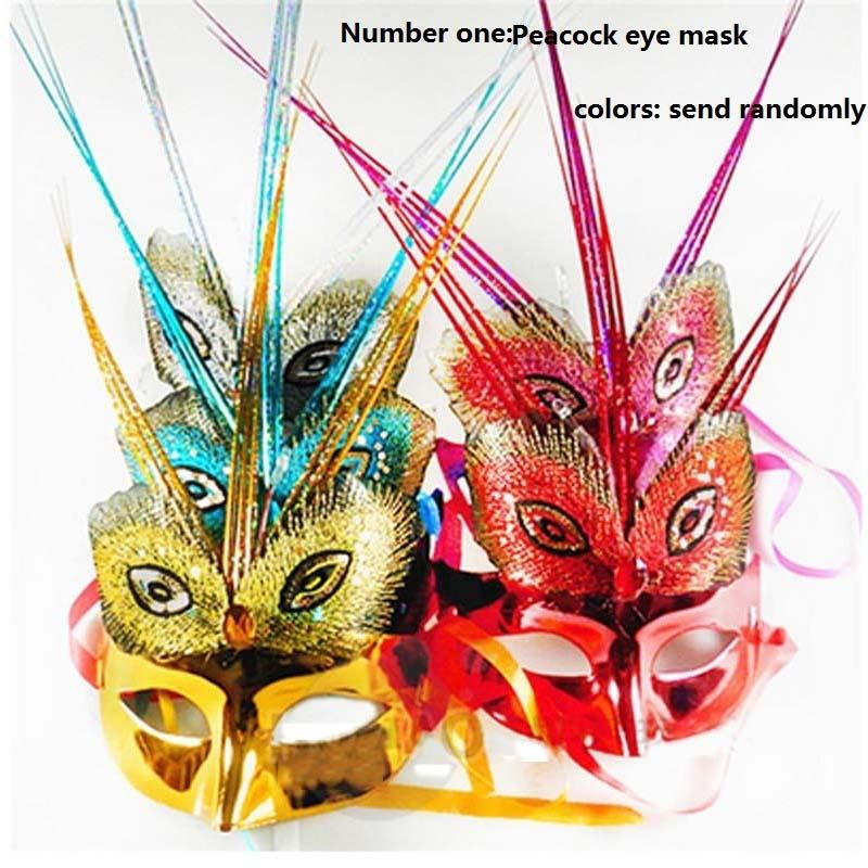Women Venetian LED Mask Masquerade Fancy Dress Costume Gauze Party Princess Feather Mask High Quality Party Decor