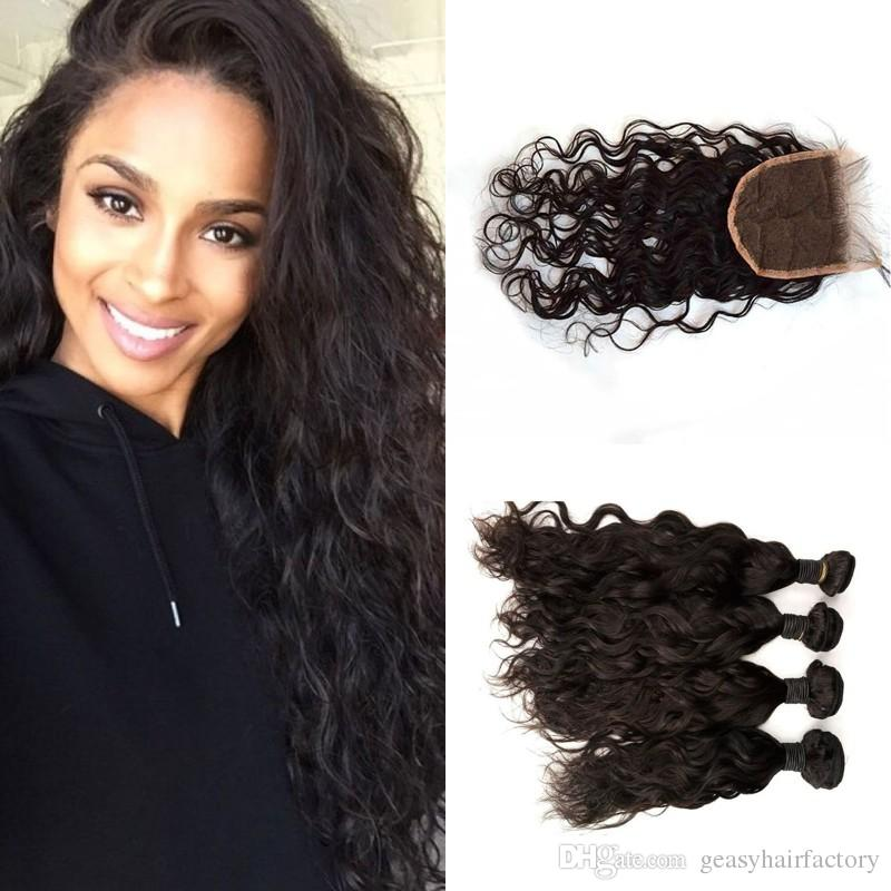 Virgin Mongolian Hair Extensions Free Middle Three Way Parting Swiss