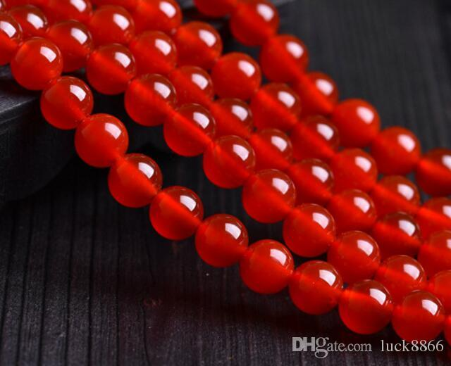 Perle di perline con collana di agata rossa fai-da-te, perline diametro 2mm-16mm
