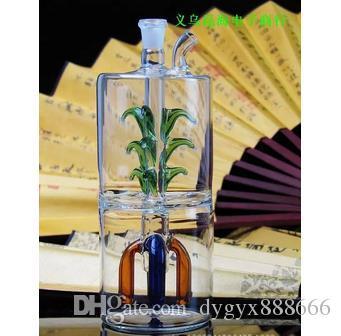 Vielzahl Form vier Krallen mehrschichtige Filterkrug ruhig, hohe 13,5 cm Breite ist 6 cm, Stil Farbe gelegentliche Lieferung, Großhandel Glas Wasserpfeife, groß
