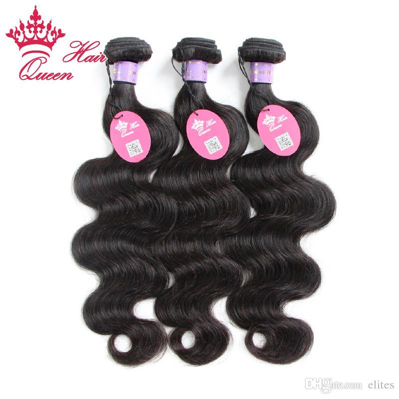 Königin Hair Products Malaysische Jungfrau webt 5 stücke Bündel 100% menschliche Körperwelle Wellenartige menschliche Haare 12