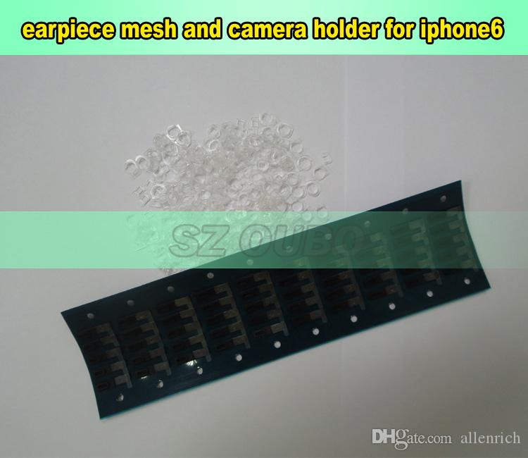 Original Adhesive Ear Speaker Earpiece Anti Dust Screen Mesh with camera holder & sensor for iPhone 6g 4.7 inch Replacement