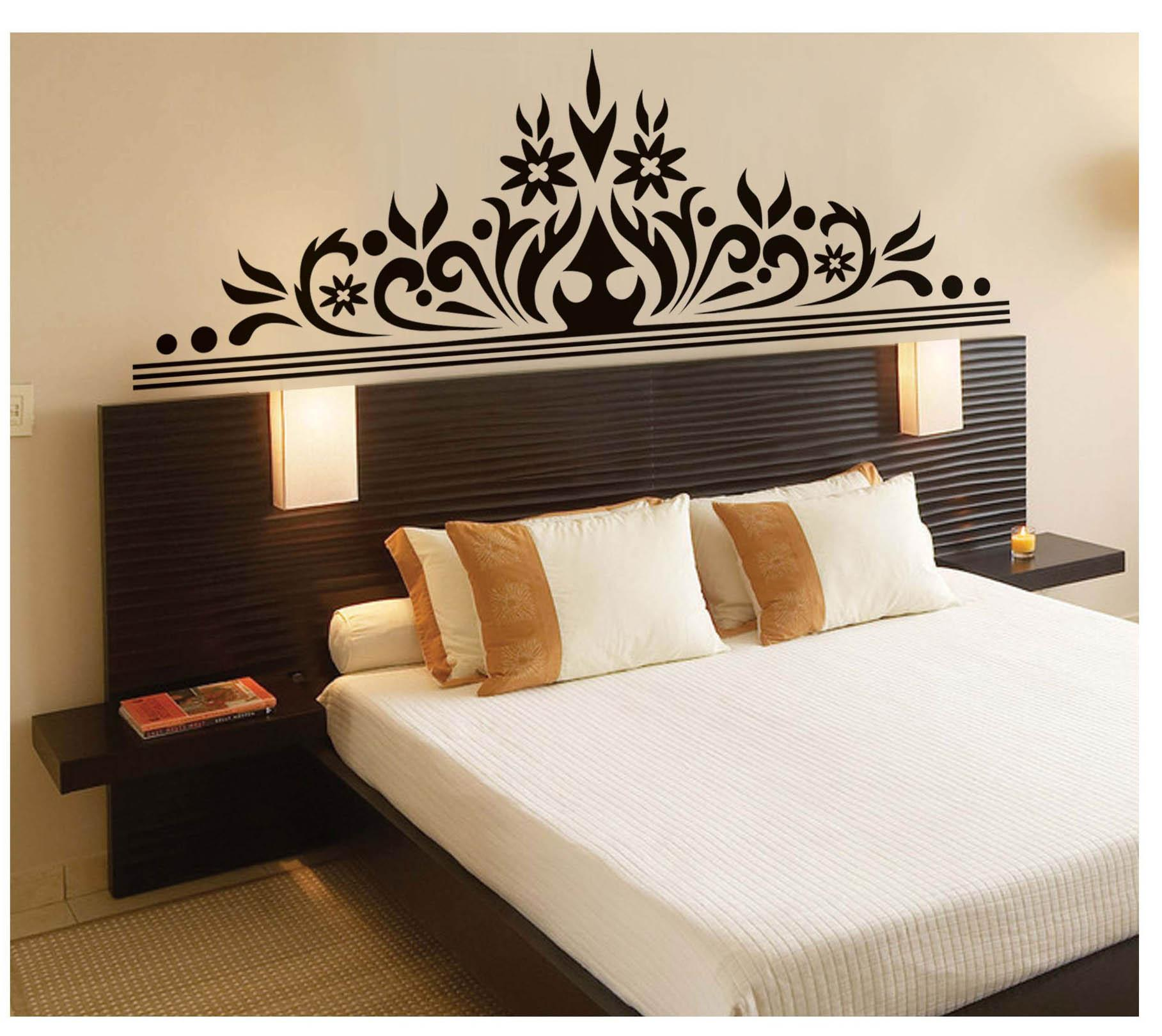 Bedroom Wall Art Decal Sticker Headboard Wall Decoration ...