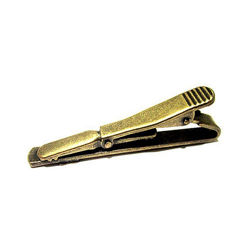 Beadsnice messing krawattenklammer väter tag großhandel geschenke hochwertige mode jewrlry zubehör günstige krawattenklammern ID 24983