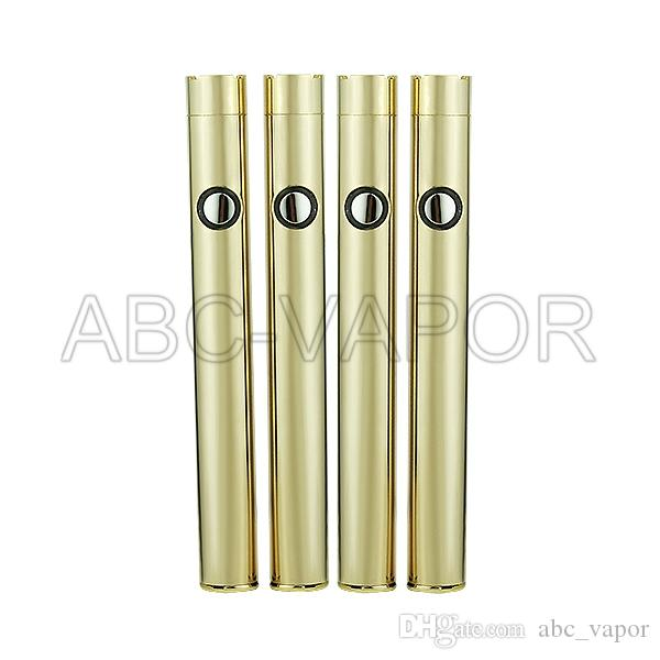 E cigarette vape pen batteries button push 350mah battery 510 thread o pen vape cartridge 510 oil vaporizer cartridge battery for vape pen