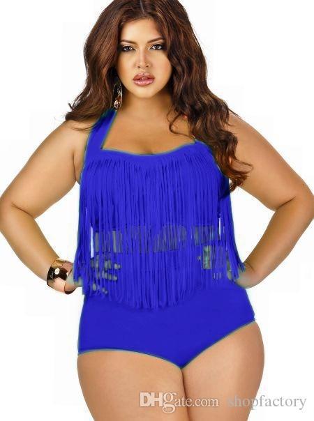 205 Wholesales Women Plus Size High Waist Tassels Bikini Set Sexy Ladies Push Up Swimwear Padded Boho Fringe Swimsuit Bathing Suit