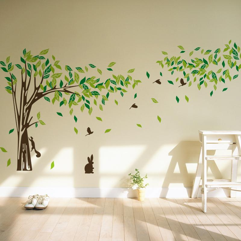 High Quality Big Size Trees Living Room Tv Wall Stickers Tree Wall Stickers Removable  Two Sizes.8260 Kids Removable Wall Decals Kids Removable Wall Stickers From  Iski, ...