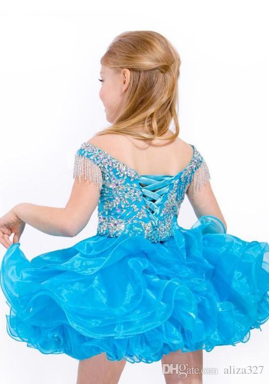Sıcak boncuklu bateau boyun dans parti mini kısa bebek yürüyor çocuk cupcakes Çocuk abiye Kız Parti Gelinlik Modelleri Kızlar Pageant Elbise