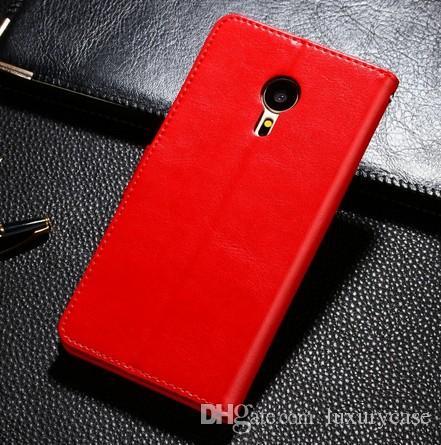 Cool Sale voor Meizu Pro 5 Case Luxe Flip Portemonnee Ultradunne Leuke Slanke Kleurrijke Originele Cover Lederen Case voor Meizu Pro 5