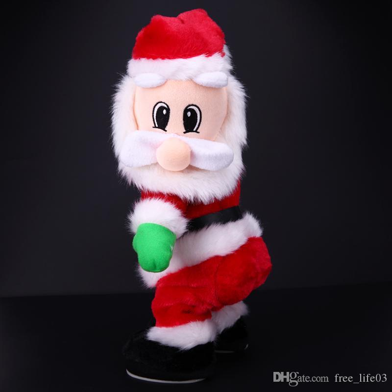 8ebf132e93d 2019 Christmas Electric Twerk Santa Claus Toy Music Dancing Doll Xmas  Navidad Christmas Gifts Toys Christmas Decorations For Home From  Free life03