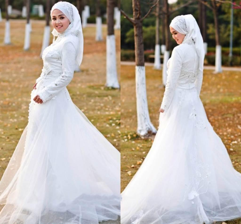 hijab white wedding dress | Wedding
