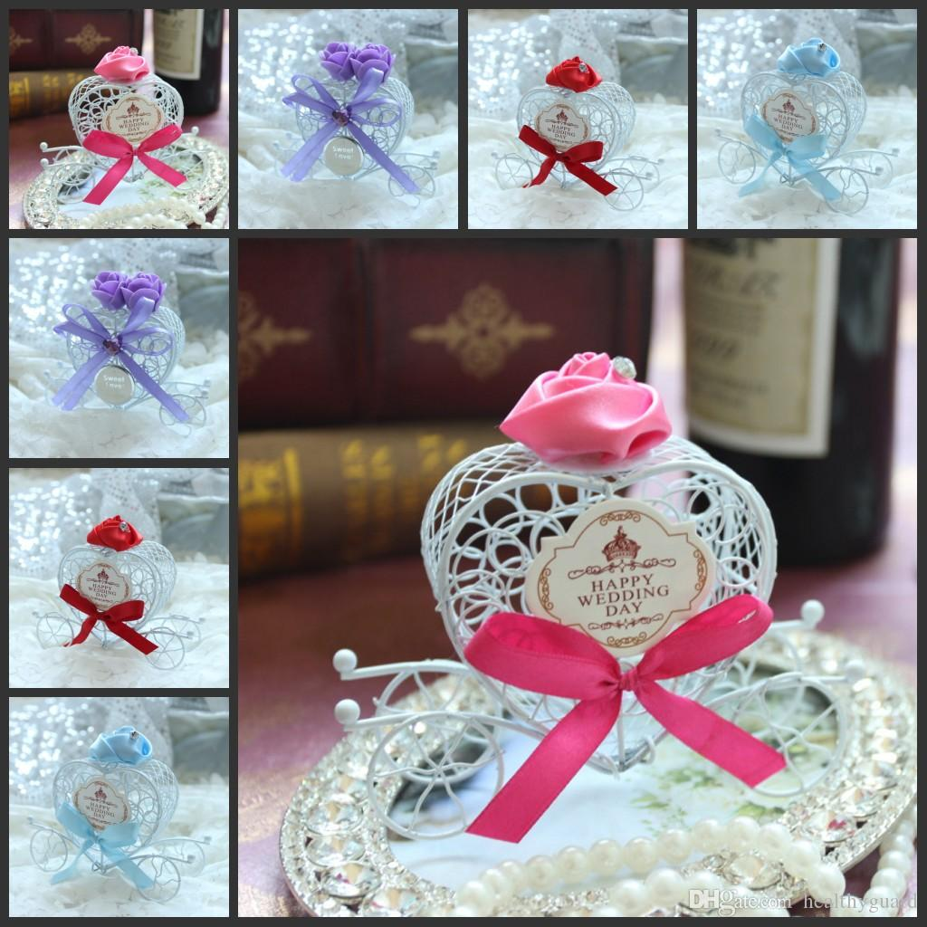 Happy Wedding Day Tag Carriage Wedding Favour Boxes Chocolate Party