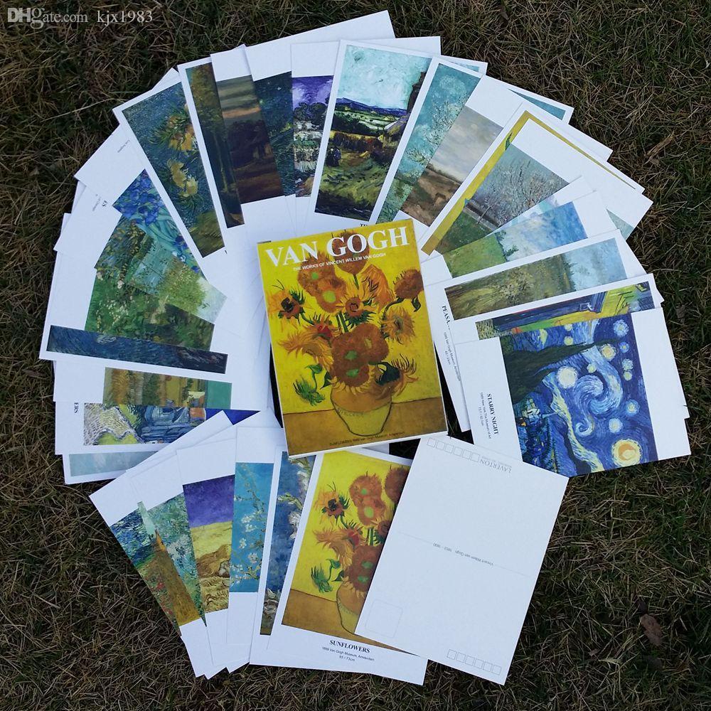 Wholesale Lavertonpostcard Set Christmas Greeting Cards Oil