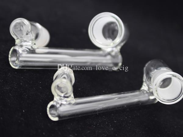 Groothandel Glas Downstem Glas Dropdown DAB Glas Water Pijpen Bongs 14.4mm Vrouwelijke Man naar 18.8mm Mannelijk Mannelijk