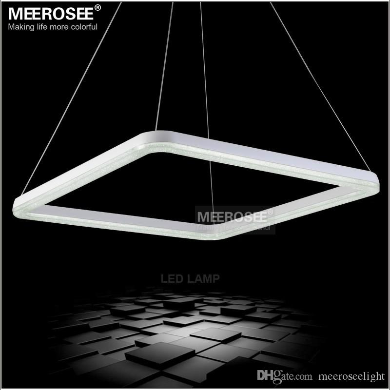 26 Inch Square Led Light Fixture Crystal Pendant Light Led Crystal Lighting  White Led Lustre Suspension Drop Lamp Pendant Ceiling Light Ceiling  Pendants ...