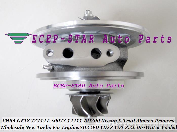 水冷ターボカートリッジChra GT1849V 727447 727447-0005 727447-5007S 14411-5007S 14411-AW400 Primera X-TRAIL YD22EDYD22 YD1 2.2L