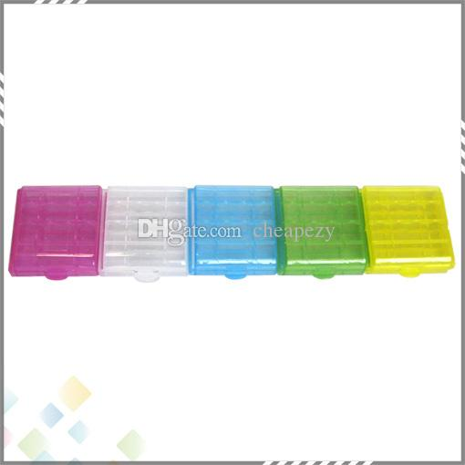 AA / AAA / 14500/10440 Pil Saklama Kabı Pil Tutucu Plastik Pil Saklama Kutusu Kutusu Taşıma Kutusu DHL Ücretsiz