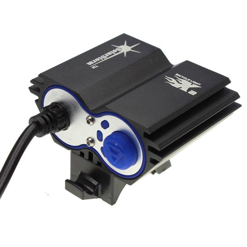 SolarStorm 2X CREE XM-L U2 LED 5000Lm LED передних велосипед свет фары с 6400mAh батареи + зарядное устройство Бесплатная доставка