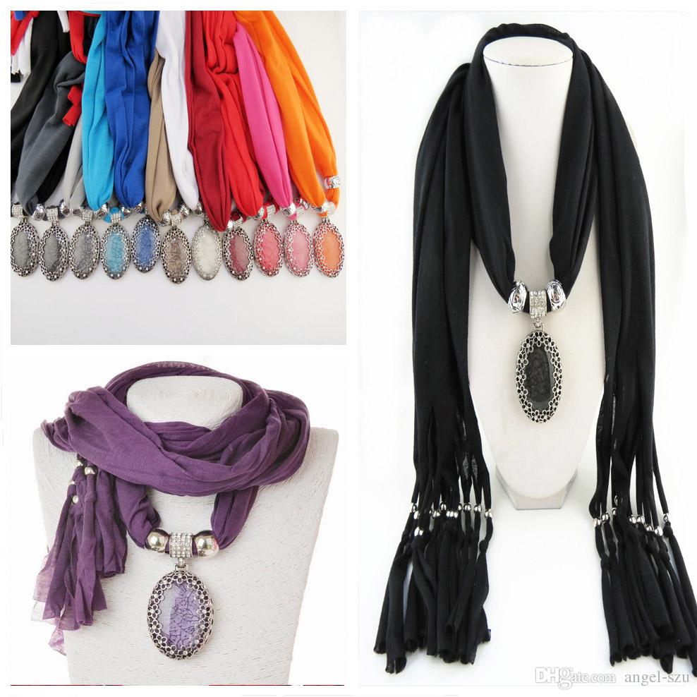 Mix alloy stone pendant scarf jewelry beads scarves necklace scarfs mix alloy stone pendant scarf jewelry beads scarves necklace scarfs pendants jewelry mix colors jewelry beads scarves freedhl e88l navy blue scarf tootal aloadofball Images
