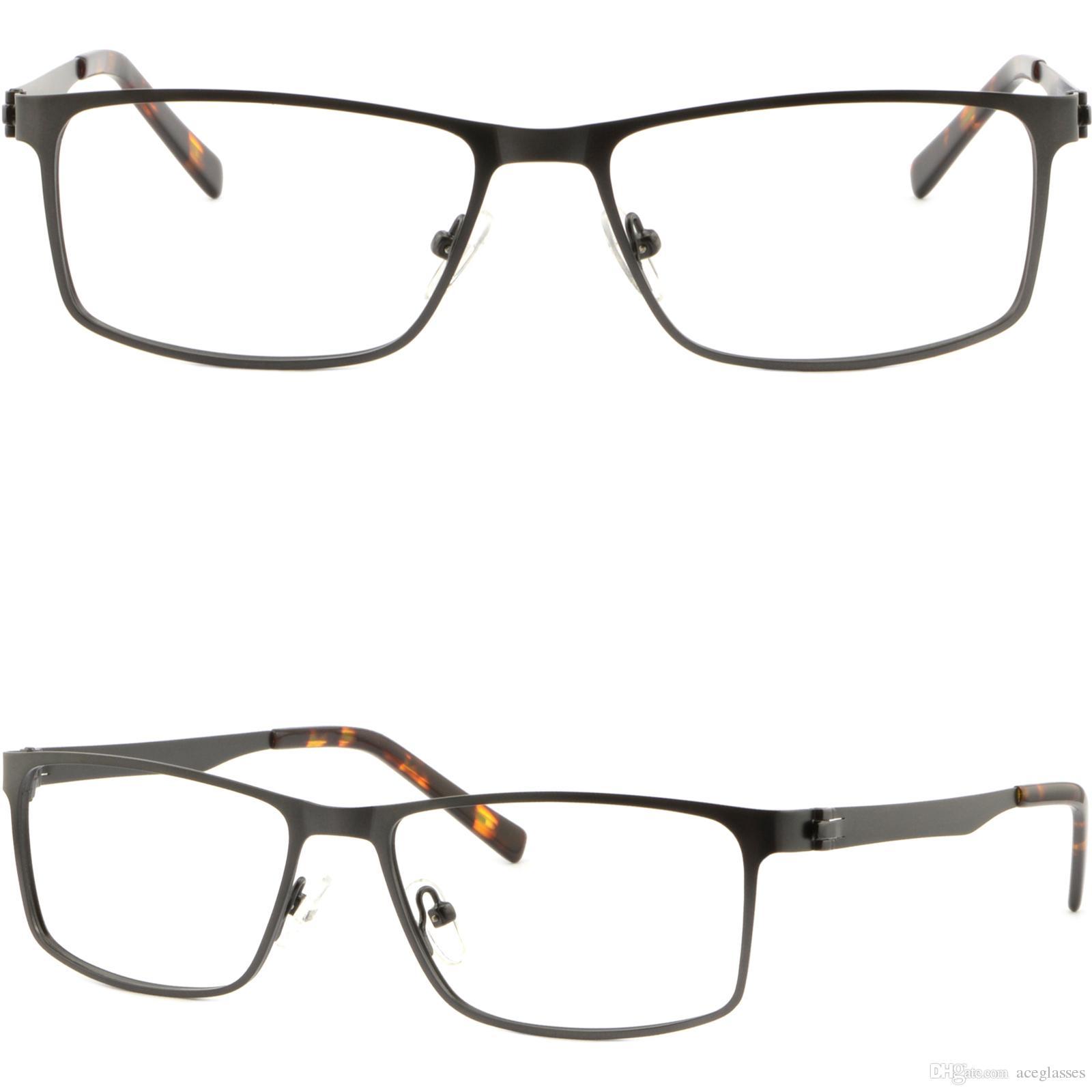51e4498cad9 Rectangular Men s Women s Metal Frames Light Prescription Glasses Dark Gray  Grey Glasses Frame Online with  35.87 Piece on Aceglasses s Store