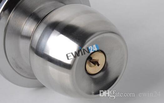 Neue Edelstahl Eiförmige Runde Türgriffe Griff Eingang Durchgang Lock Entry mit Key