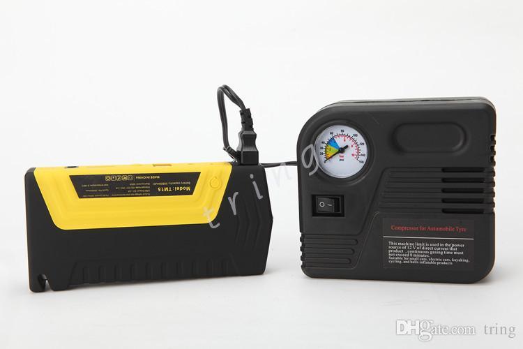공기 압축기 휴대용 자동차 배터리 점프 스타트 파워 팩으로 고품질 다기능 자동차 점프 스타터 50800mah