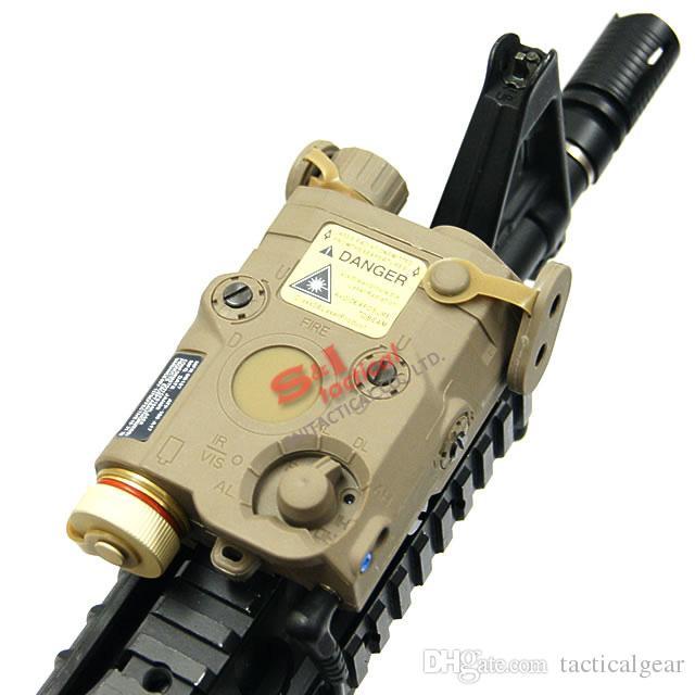 Taktischer An / Peq-15-grüner Laser mit weißer LED-Taschenlampe-Fackel IR-IRL-IR-IR-IR-IR-HINWEISE FÜR JAGING OUTDOOR BLACK / DARKER EDGE