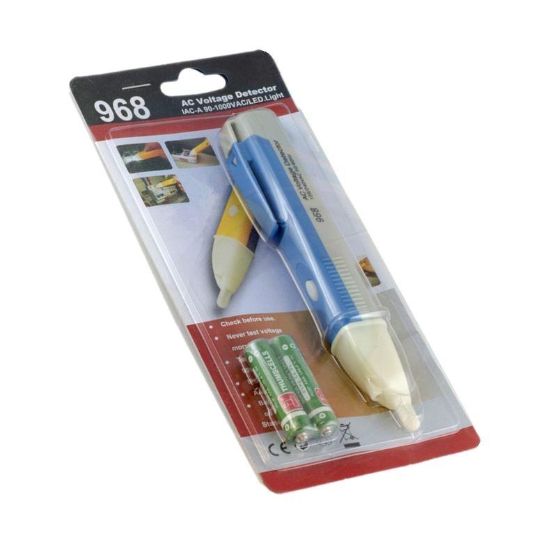 Бесконтактный детектор переменного тока Pen Electric Sensor Tester Pen 90 ~ 1000V AC детектор тестер постоянного напряжения 968 со светодиодной подсветкой