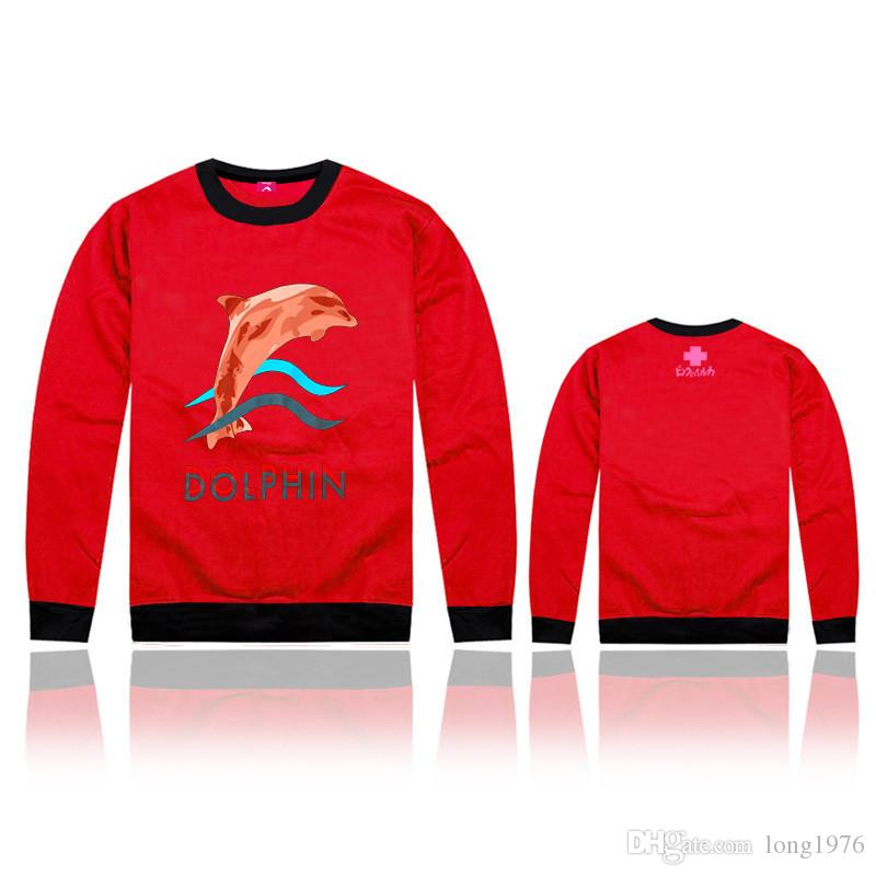 Pink dolphin coat sweatshirt MEN casual sportswear hip hop hoodies Rock sport suit 2017 Skateboard high quality