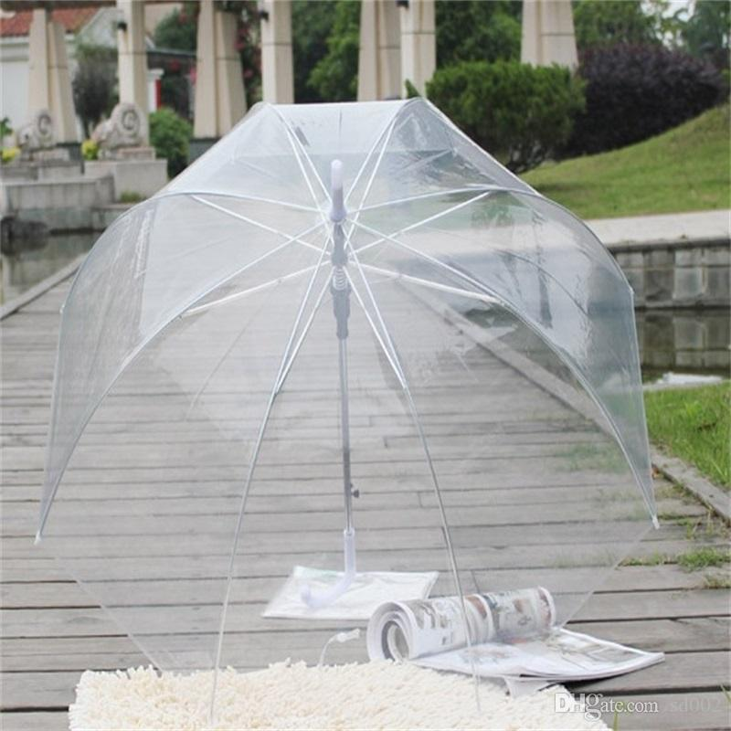 Transparent Princess Umbrellas Rain Proof Fashion Mushroom Apollo Umbrella Long Handle Lady Paraguas For Wedding Decorations 10ss C RZ