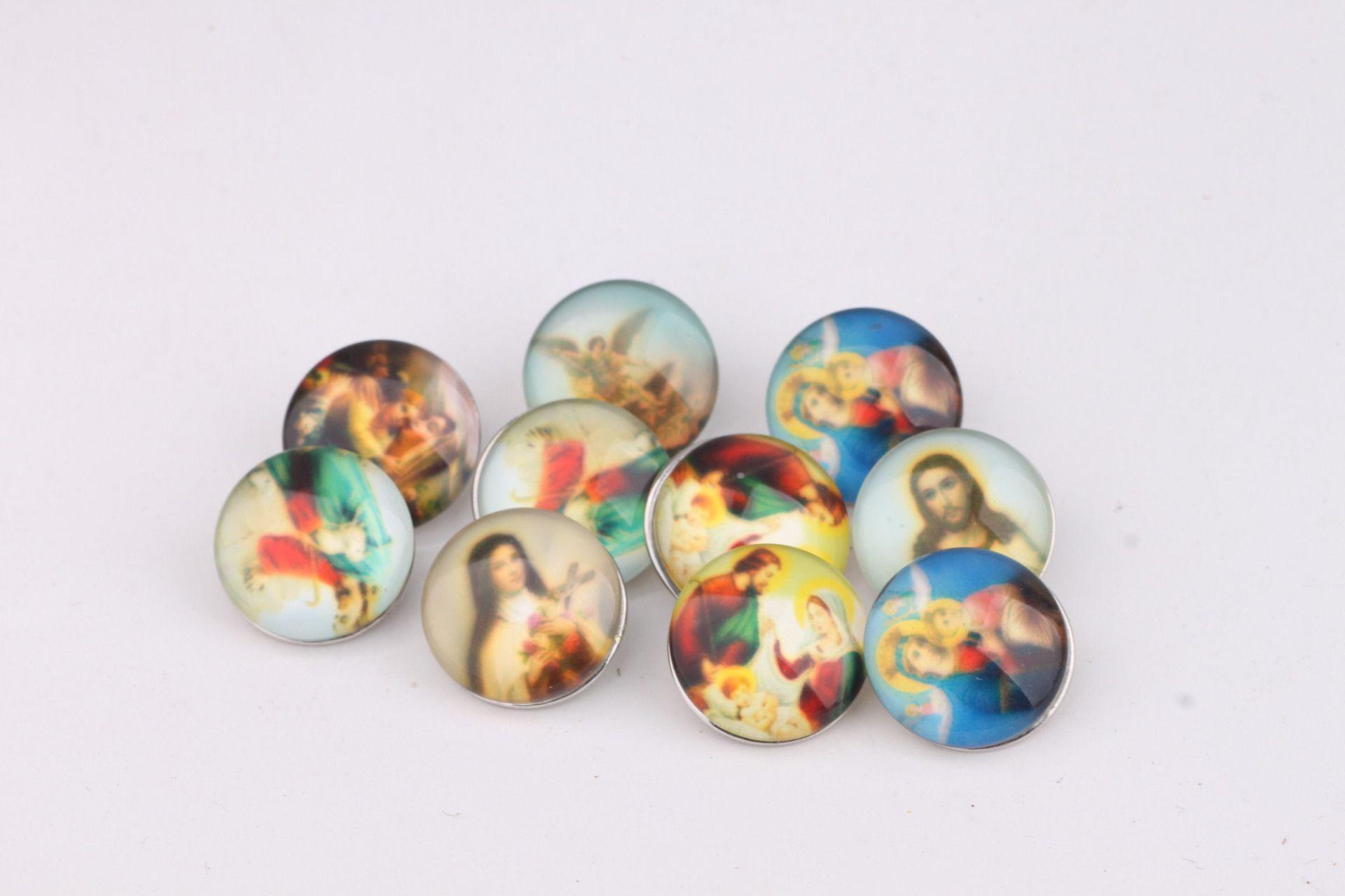 JACK88 Hot Sale Mix Styles DIY 18mm About Jesus Ginger Glass Snap Buttons Fit Snap Button Bracelet M614