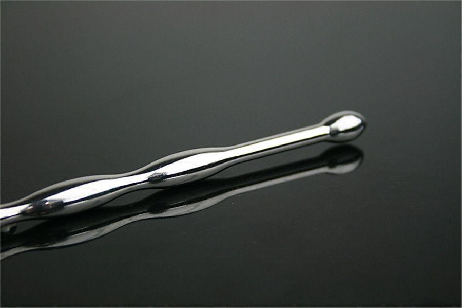 Cateteres de Aço Inoxidável de alta qualidade longo cateterismo uretral êmbolo grânulo, brinquedos adultos do sexo para homens, produtos do sexo à venda # 913