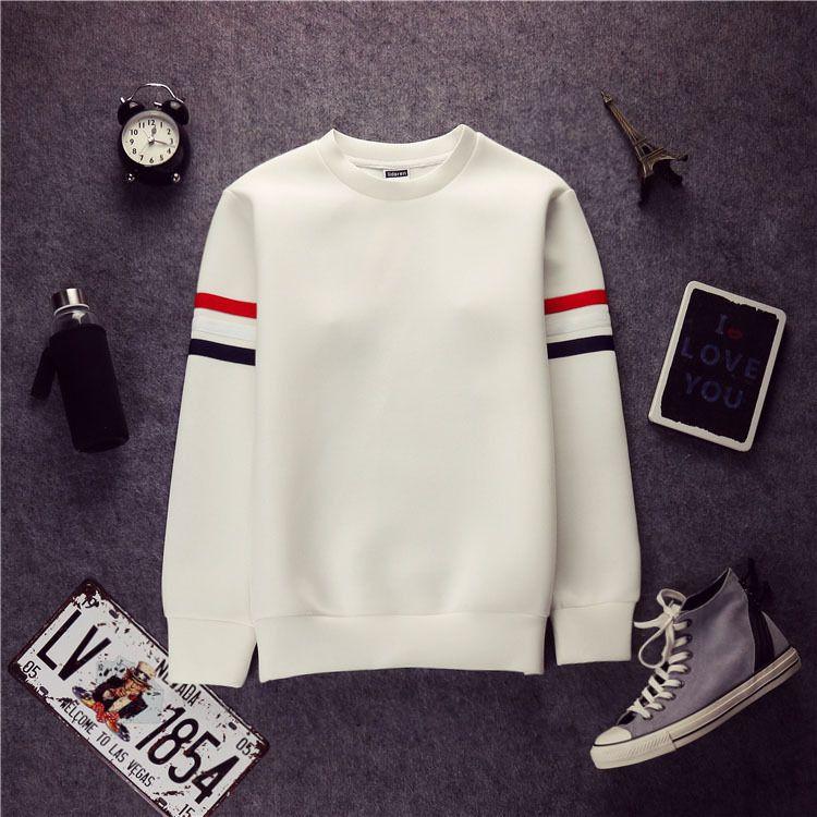 2015 New Korean Streetwear White Color Cotton Stripe Cheap Mens Hoodies  Brand Sweatshirt Men UK 2019 From Sunnyroom 2d72b10fee0b