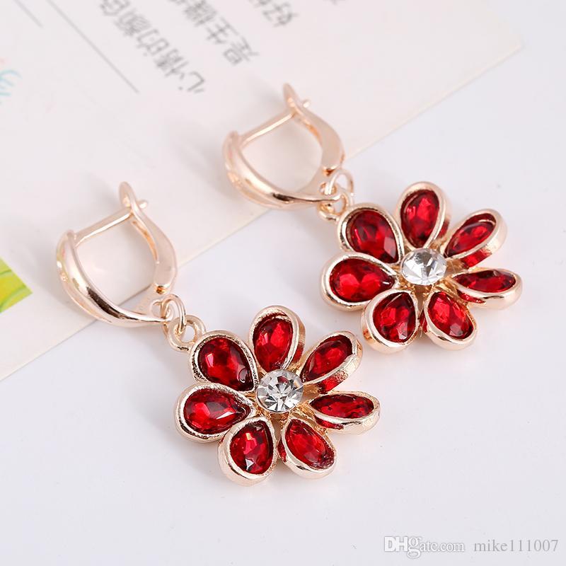 Shape Bridesmaids Jewelry Sets Cheapest High Quality Beautiful Custom Rhinestone Bridal Jewelry Sets Latest Design for Woman