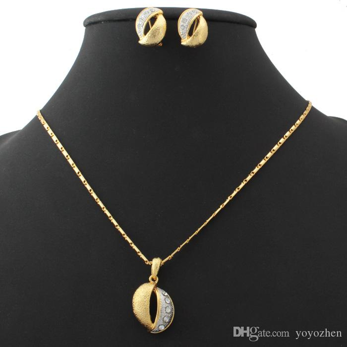 New Gold Platinum Multi Plated Rhinestone Joyería Juego de Joyería Match Snake Cadena Joyería para Mujeres YS1101