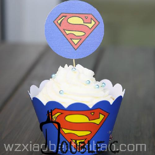 2018 Cupcake LinersSuperman Party SuppliesWrappers For Birthday
