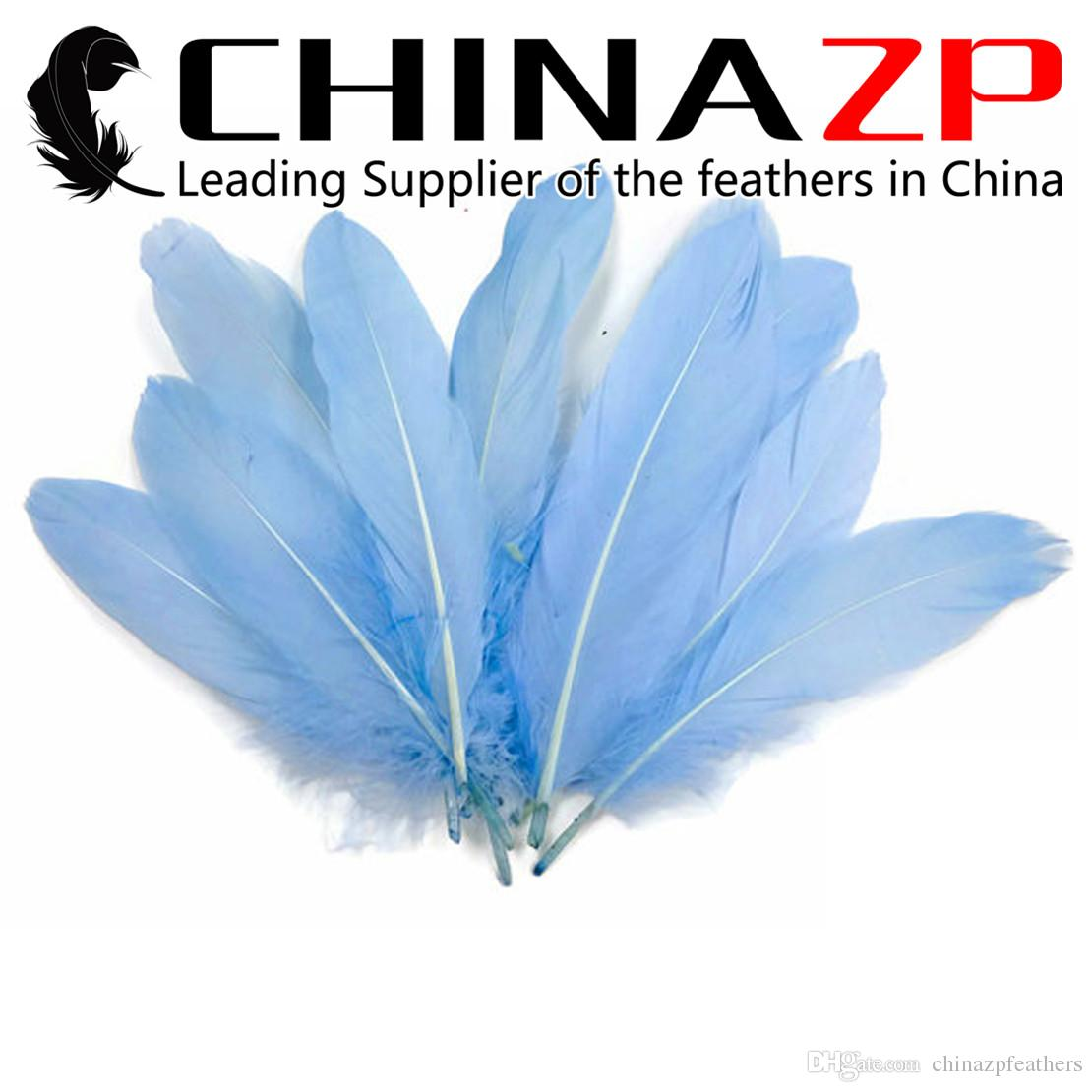 Leading Supplier CHINAZP Crafts Factory 10~15cm4~6inch Length Fantastic Fluffy Light Blue Goose Loose Feather for Halloween Party