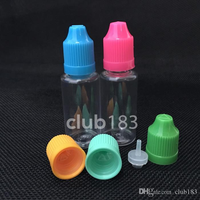 freier Versand Flaschen PET-Kunststoffflasche mit flüssiger e kindersichere Verschlusskappe, leeren Tropfflaschen für e Flüssigkeit, eLiquid 20ml Tropfflasche