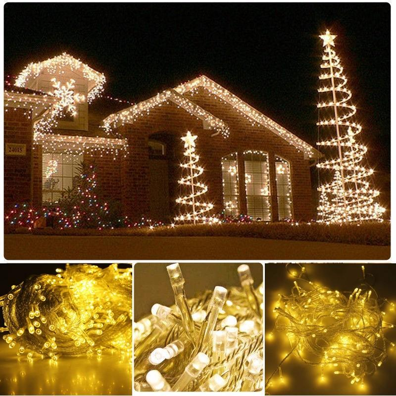wholesale warm white 50m 500 led string lighting wedding fairy christmas lights outdoor twinkle christmas decoration outdoor eu plug outdoor string of