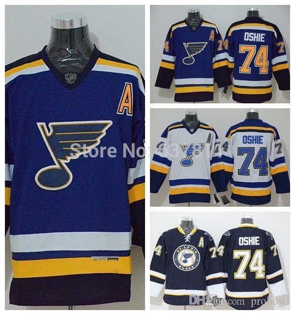 outlet store 65996 f52c4 2015 St. Louis Blues Hockey Jerseys #74 T. J. Oshie Jersey New Blue  Alternate Cheap TJ Oshie Stitched Jerseys M-XXXL A Patch